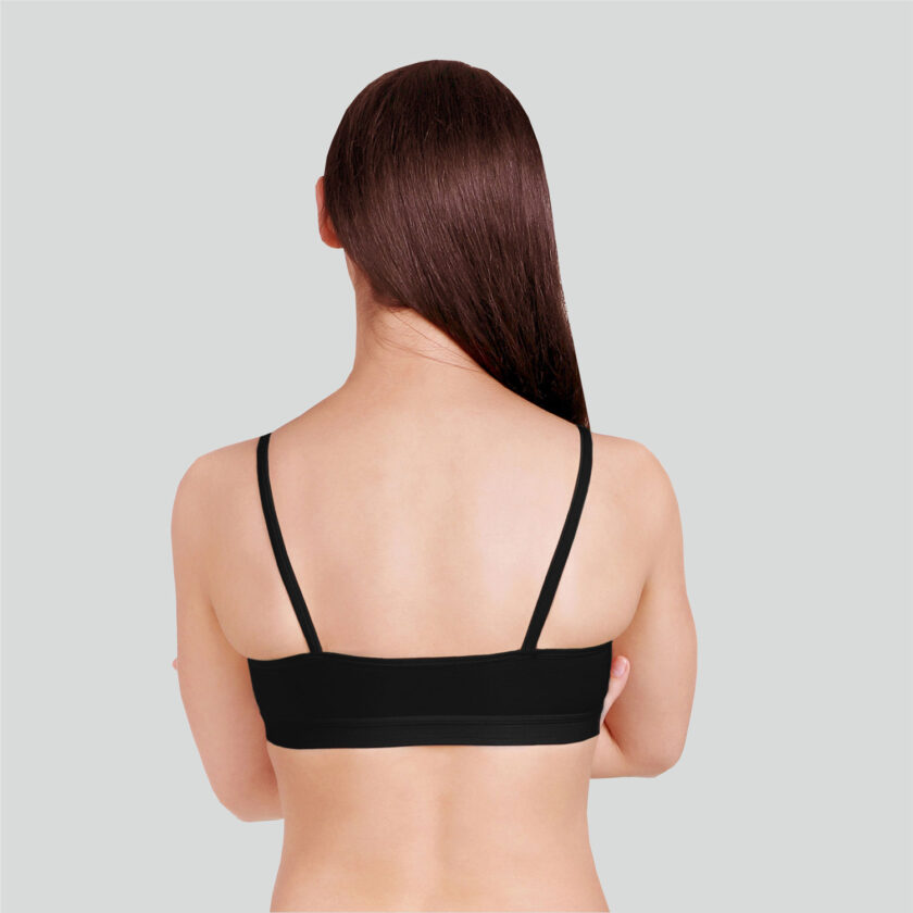 Teenage Bra Non Wired Full Coverage (Pack of 2) Black